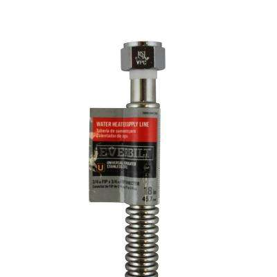 3/4 in. FIP x 3/4 in. FIP x 18 in. Stainless Steel Corrugated Water Connector