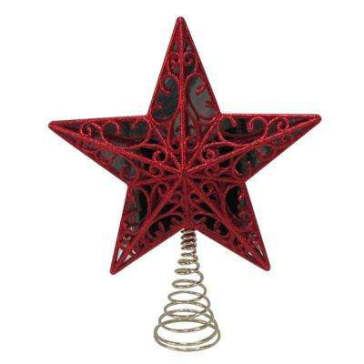 11.25 in. Red Star Tree Topper