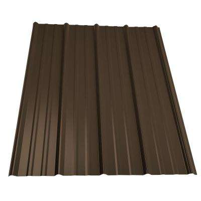 3.5 ft. Classic Rib Metal Roof Panel in Burnished Slate
