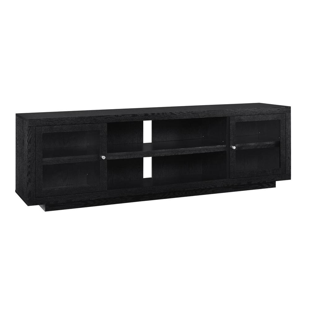 Ameriwood Young Lane 72 In Black Oak Tv Stand Hd40618 The Home Depot