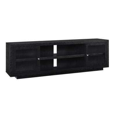 Young Lane 72 in. Black Oak TV Stand
