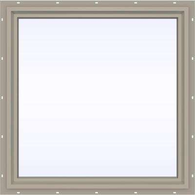 35.5 in. x 35.5 in. V-4500 Series Fixed Picture Vinyl Window - Tan