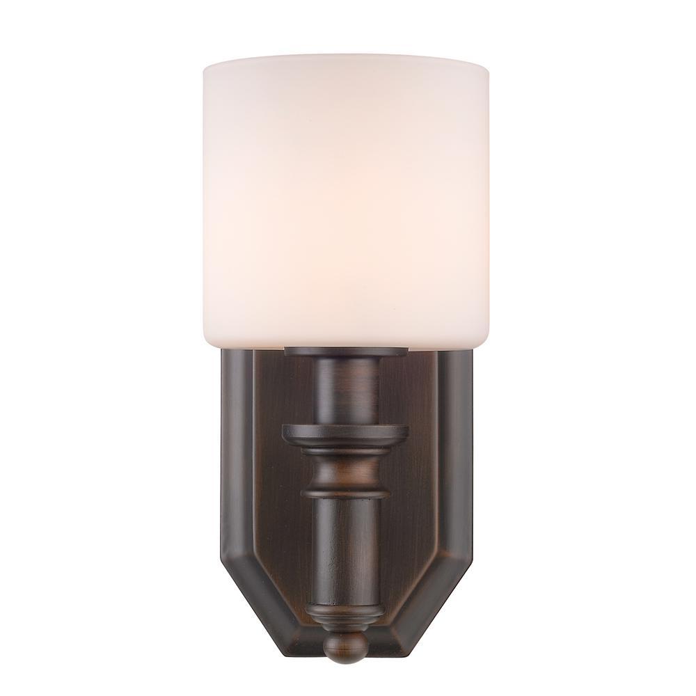 Beckford Rubbed Bronze 1-Light Bath Light