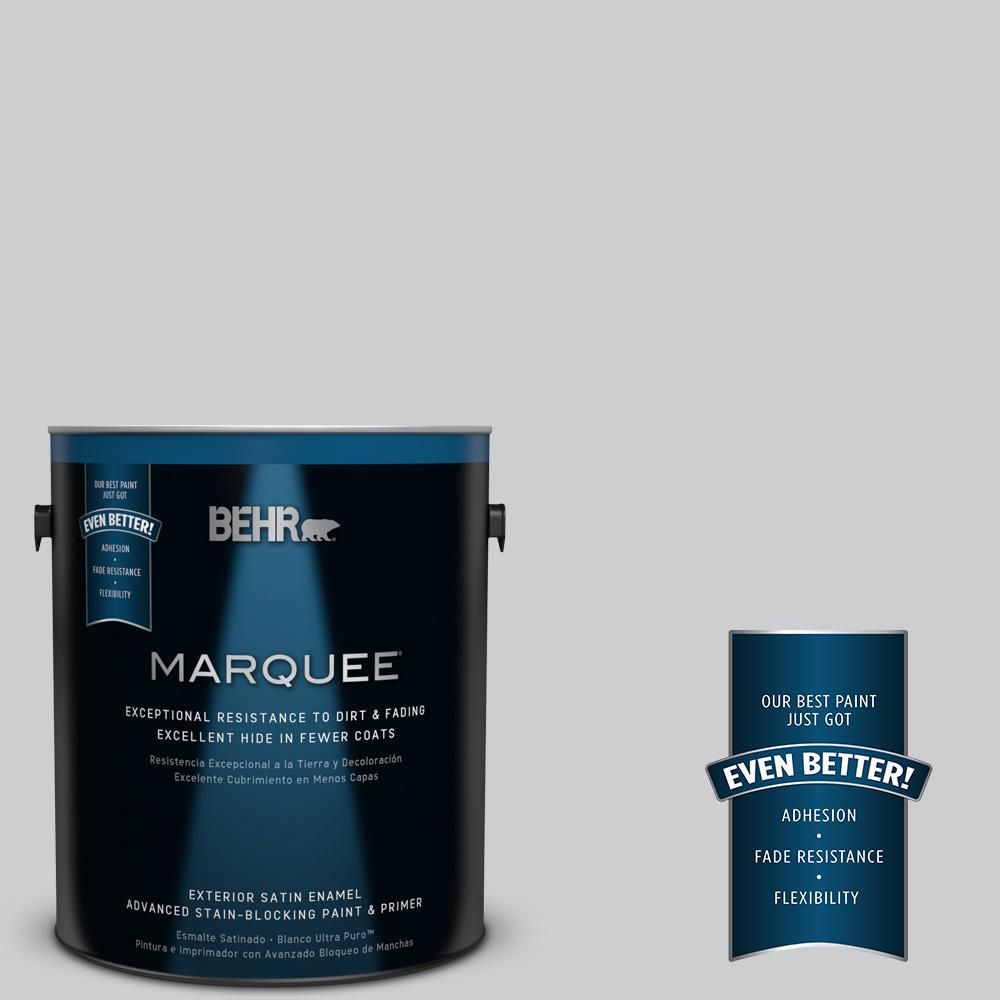 BEHR MARQUEE 1-gal. #770E-2 Silver Screen Satin Enamel Exterior Paint