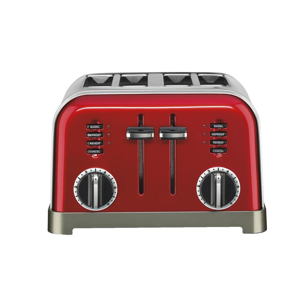 f23af03abf0 Cuisinart 4-Slice Red Toaster-CPT-180MR - The Home Depot