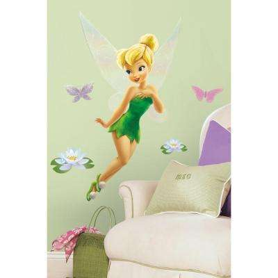 18 in. x 40 in. Disney Fairies - Tinkerbell 10-Piece Peel and Stick Giant Wall Decal - US/MEXICO/RUSSIA