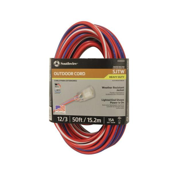 .4x.4x600 Coleman Cable Extension Cord
