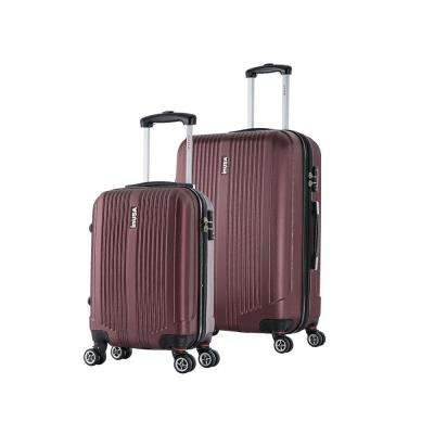 San Francisco lightweight hardside spinner 2 piece Set 18 & 26-Wine