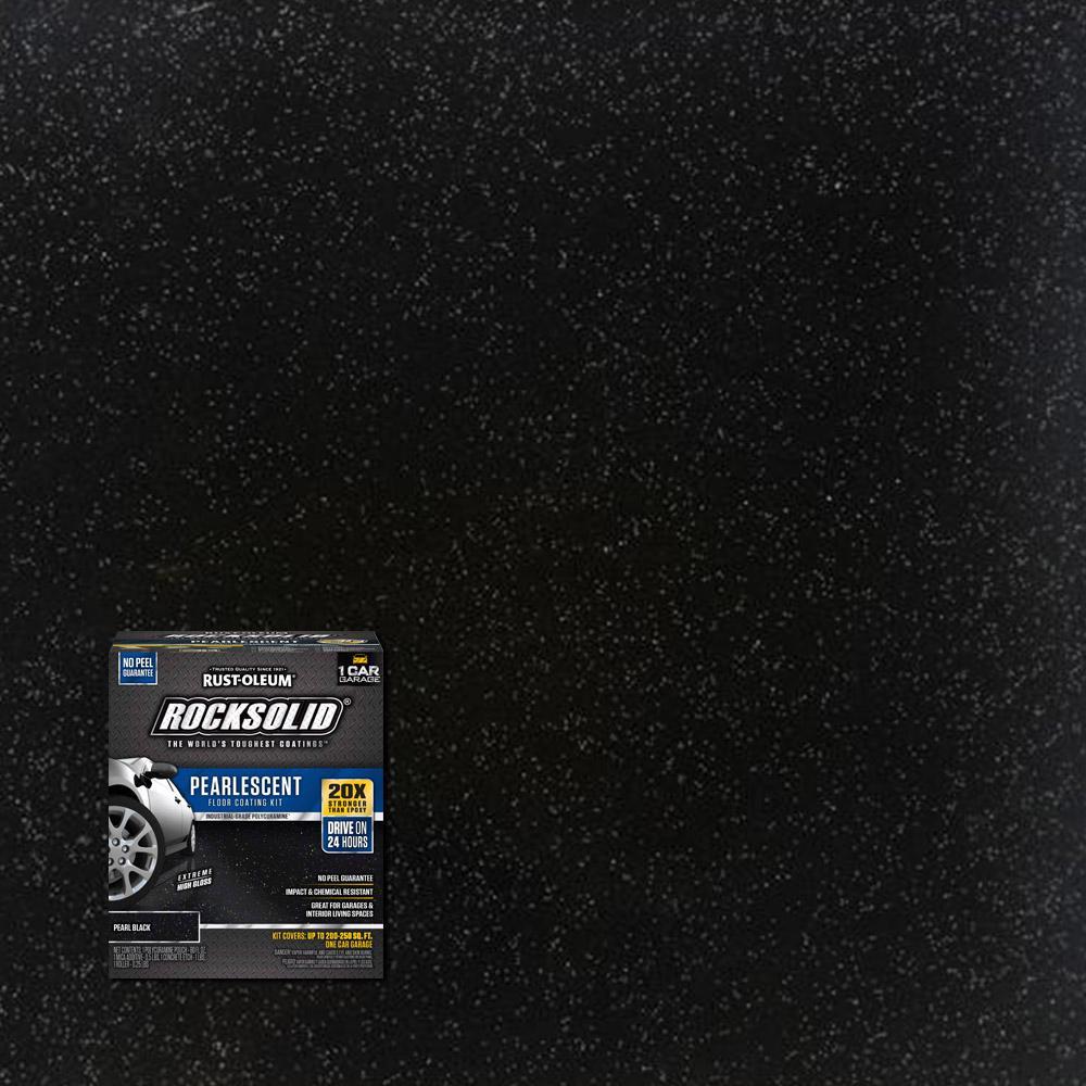 Rust Oleum Rocksolid 76 Oz Pearlescent Pearl Black Garage