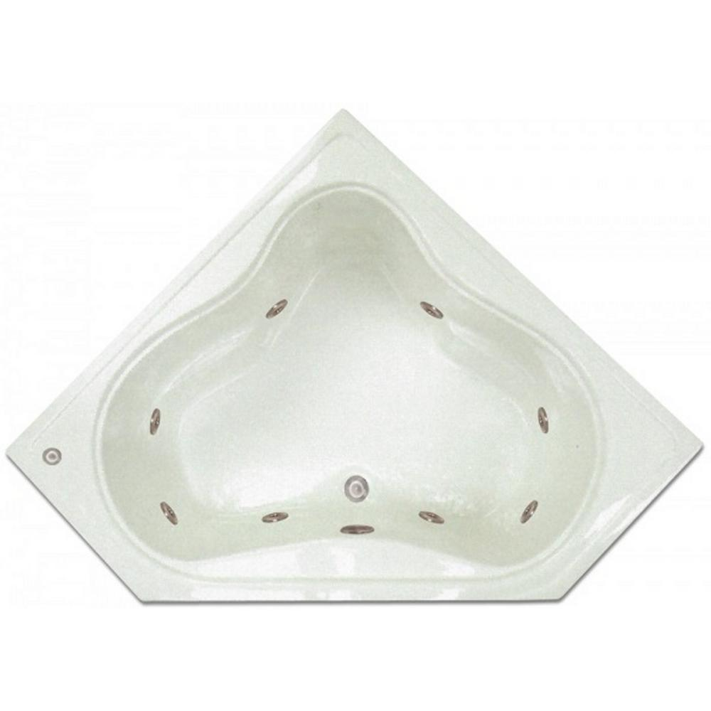 Pinnacle 4.48 ft. Corner Drop-In Whirlpool Tub in White-LPI303-W ...