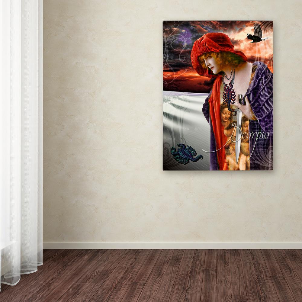 "Trademark 32 in. x 24 in. ""Art Nouveau Zodiac Scorpio"" by..."