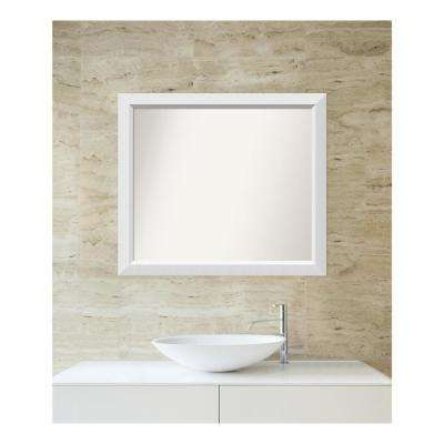 Choose Your Custom Size 28 in. x 32 in. Blanco White Wood Framed Mirror