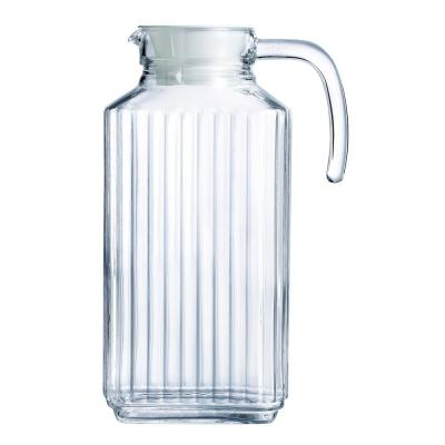 Quadro Jug 57.5 oz. with White Lid (Set of 1)