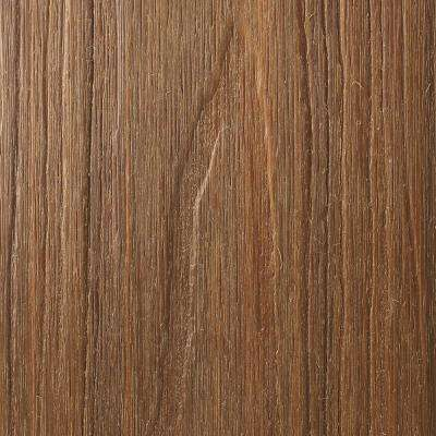 UltraShield Natural Cortes Series 1 in. x 6 in. x 8 ft. Peruvian Teak Solid Composite Decking Board (49-Pack)