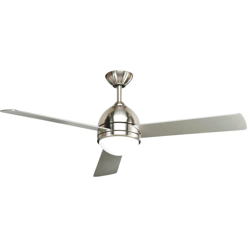 Progress lighting trevina 52 in indoor brushed nickel ceiling fan indoor brushed nickel ceiling fan with remote aloadofball Gallery