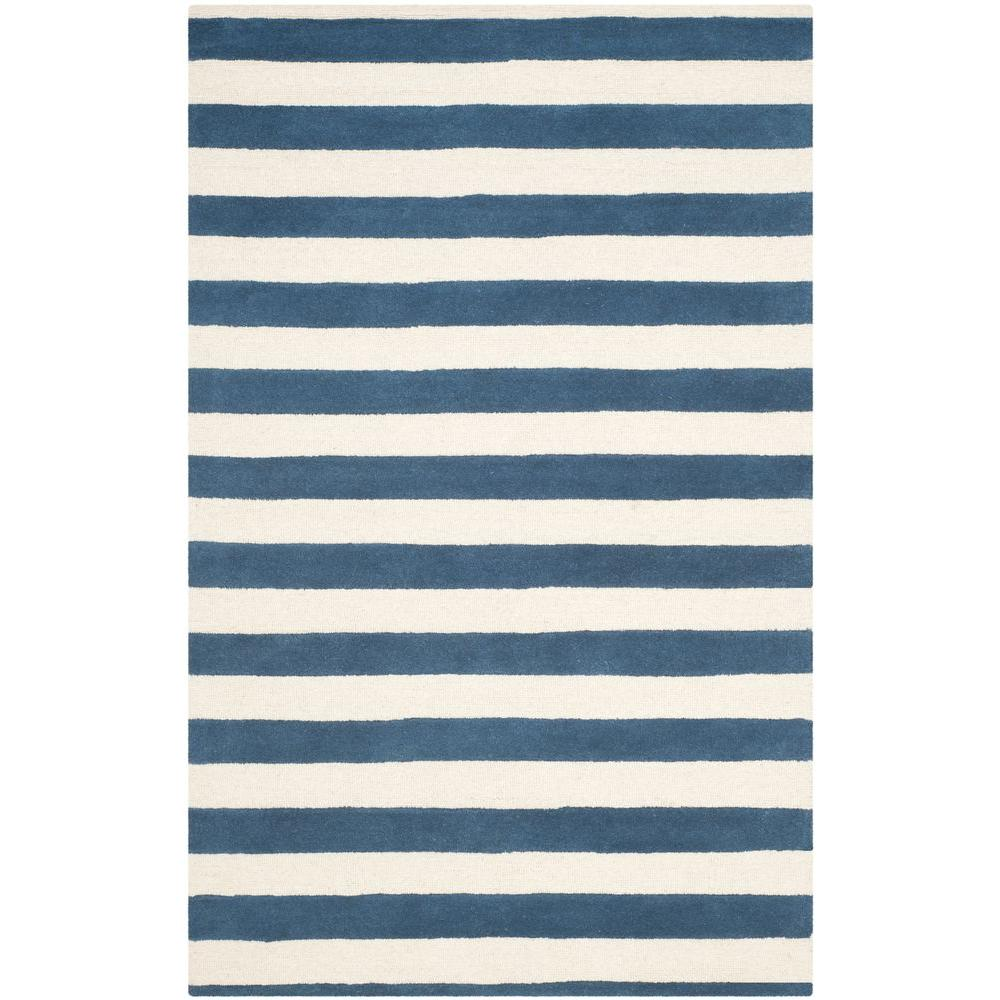 Safavieh Cambridge Navy/Ivory 4 ft. x 6 ft. Area Rug