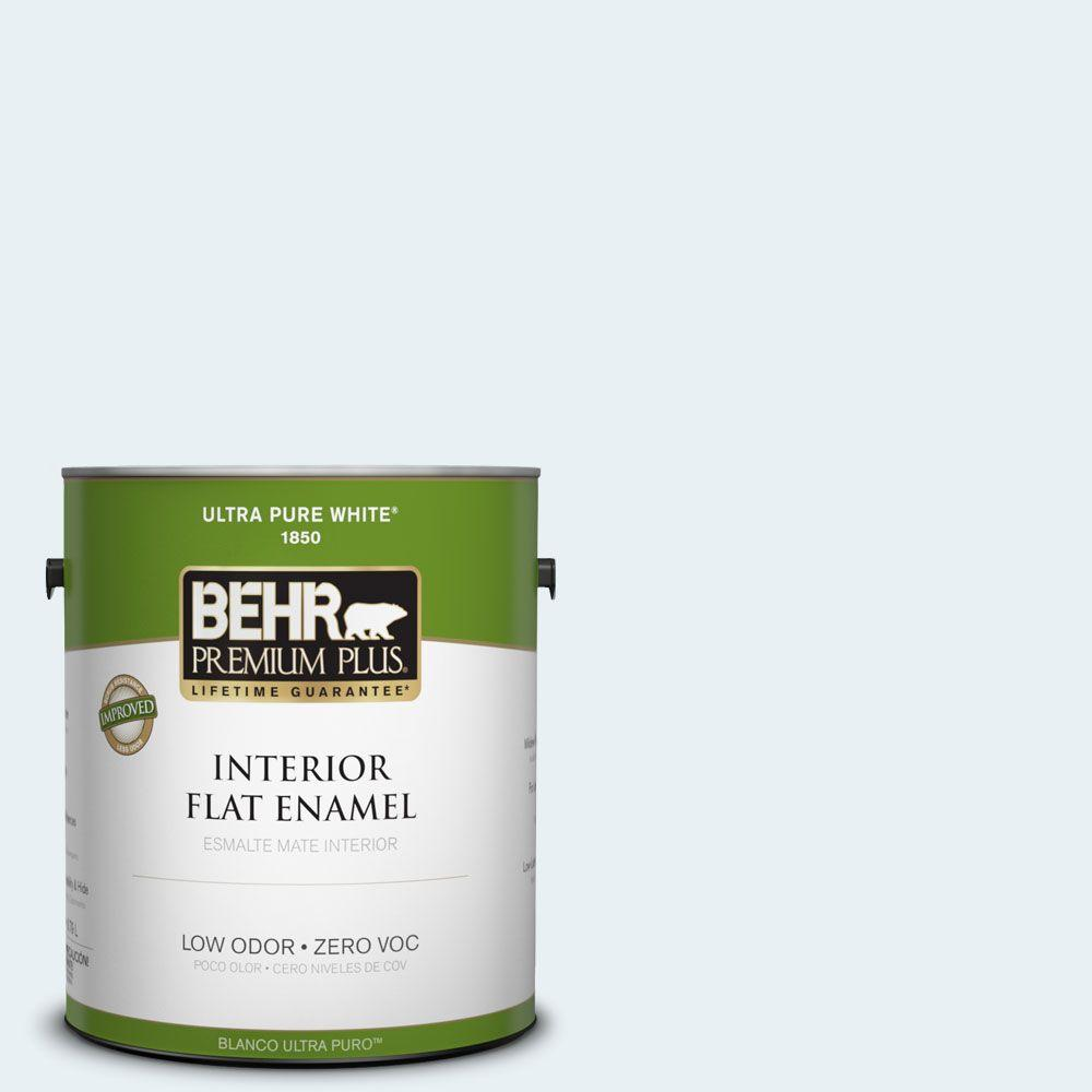 BEHR Premium Plus 1-gal. #550E-1 Breaker Zero VOC Flat Enamel Interior Paint-DISCONTINUED