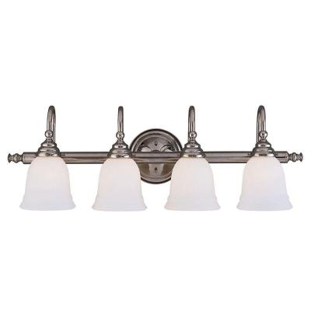 4-Light Chrome Bath Bar Light