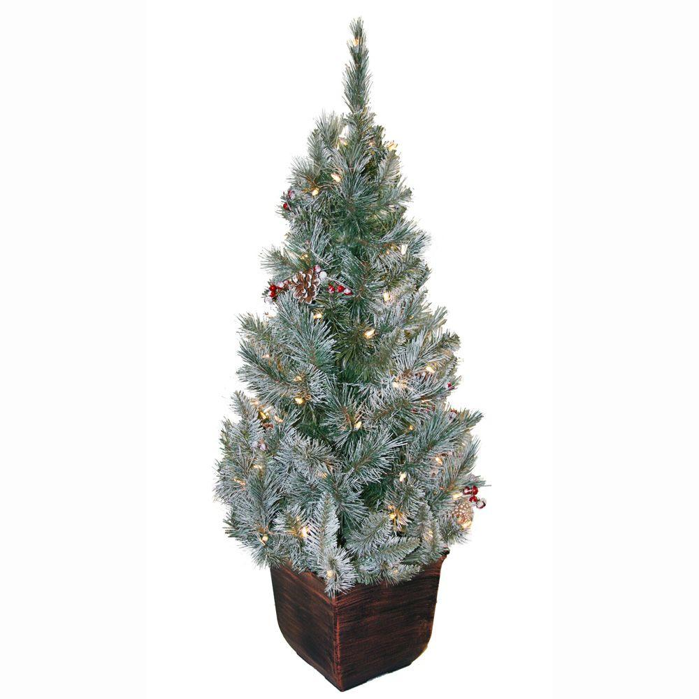 White Twig Christmas Tree Prelit