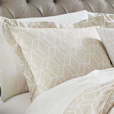 Geome Putty Euro Pillow Sham