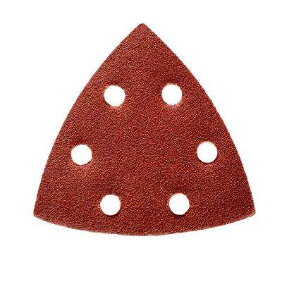 3-3/4 in. 60, 80, 120, 180, 240, 320 Grit 6-Hole Detail Sandpaper Assortment Red (36-Pack)