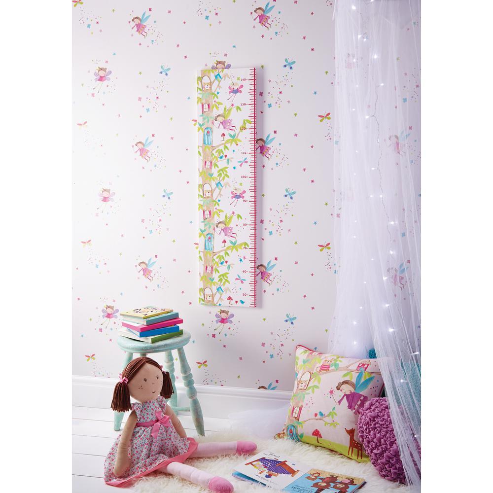 Fairy Dust White Wallcovering
