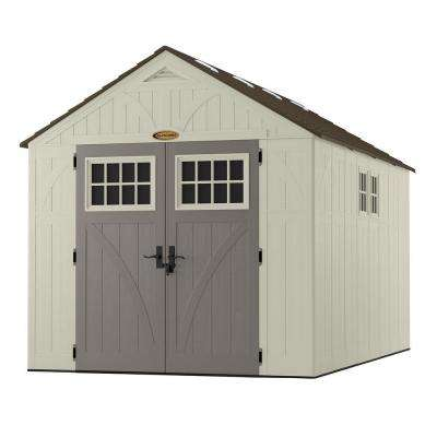 Tremont 13 ft. 2-3/4 in. x 8 ft. 4-1/2 in. Resin Storage Shed with Windows
