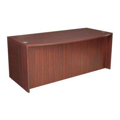 Legacy 71 in. Mahogany Bowfront Desk Shell