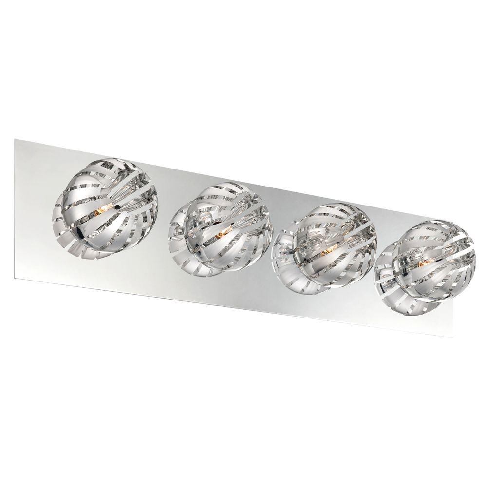 Eurofase Cosmo Collection 4-Light Chrome Bath Bar Light