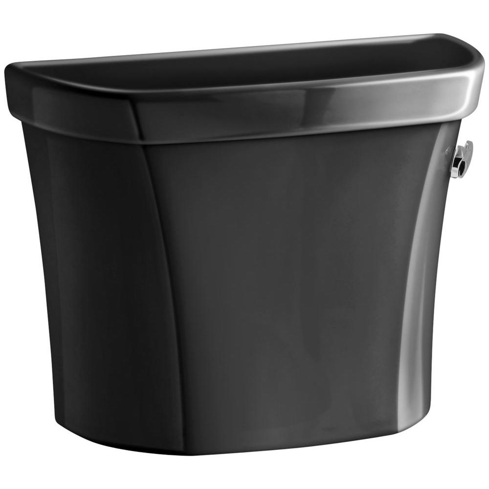 KOHLER Wellworth 1.6 GPF Toilet Tank Only in Black Black