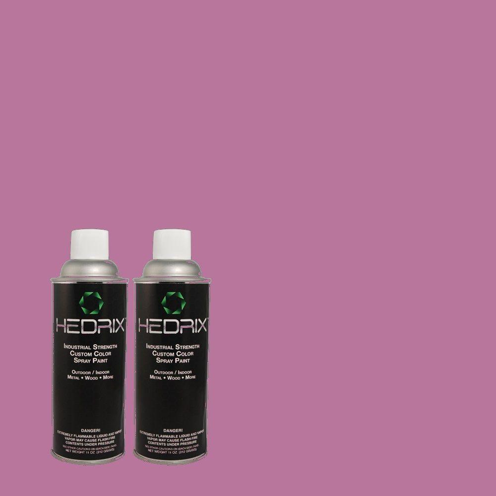 Hedrix 11 oz. Match of 670B-6 Orchid Kiss Flat Custom Spray Paint (2-Pack)