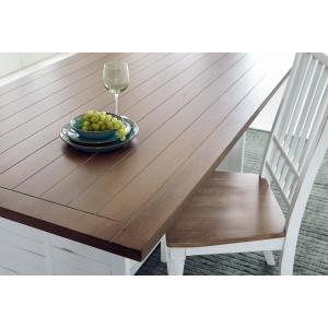 Shutters Light Oak/Distressed White Dining Table