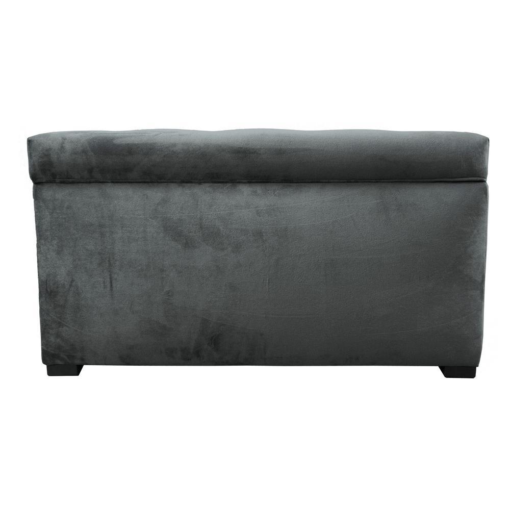 MJL Furniture Designs Angela MystereCosmic Button Tufted Upholstered Storage Trunk