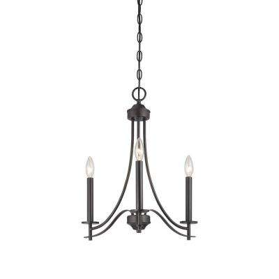 Cassina 3-Light Biscayne Bronze Chandelier