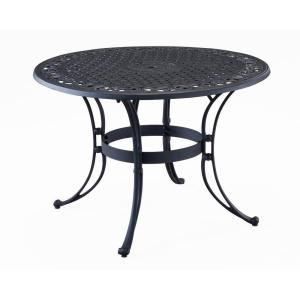 Home Styles Biscayne 48 In Black Round Patio Dining Table 5554 32