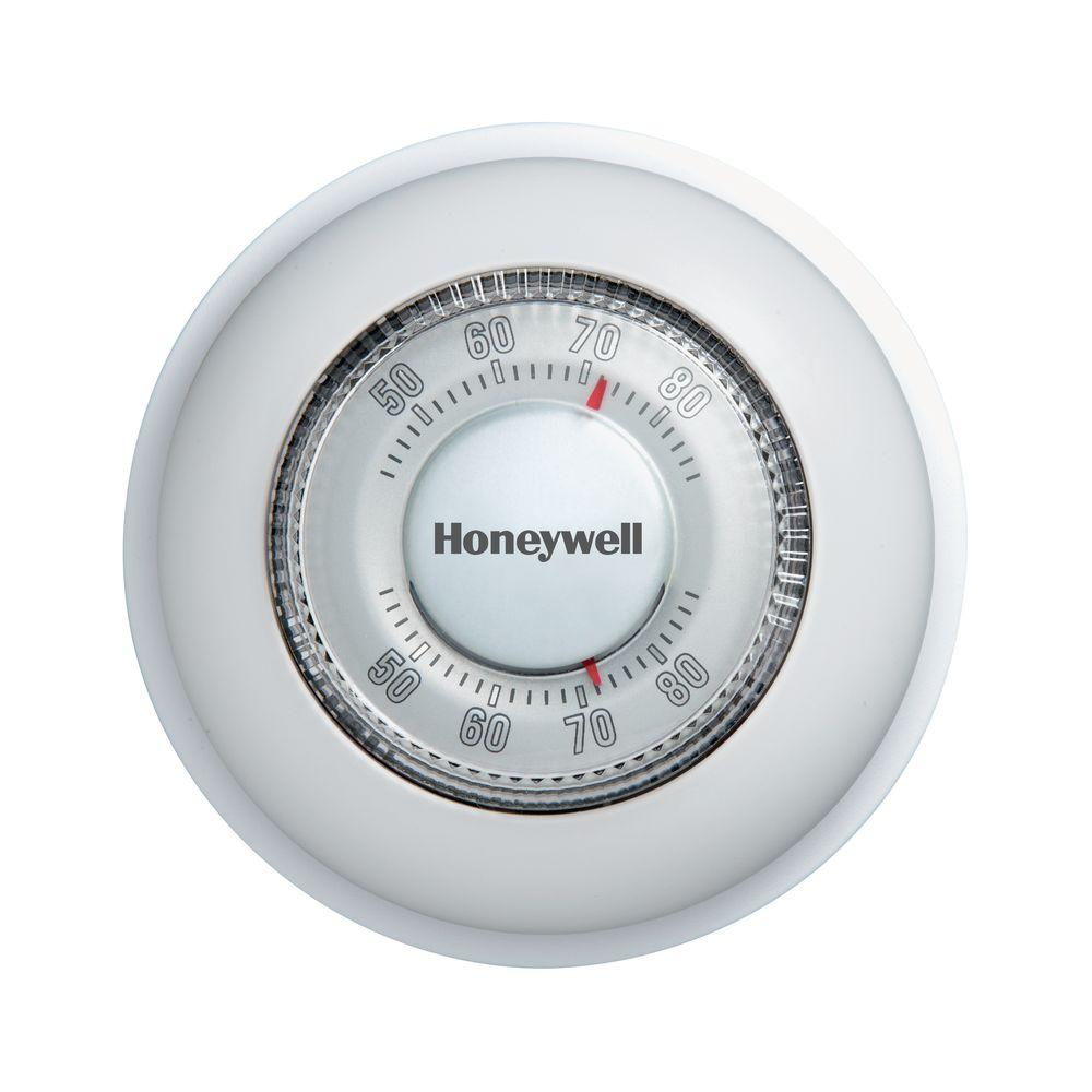 Honeywell Round Mechanical Thermostat Heat Only on