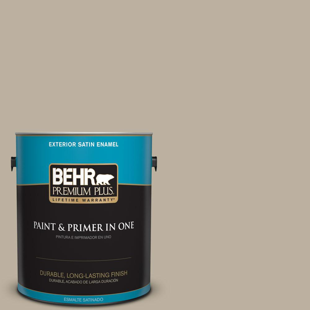 BEHR Premium Plus 1-gal. #750D-4 Pebble Stone Satin Enamel Exterior Paint