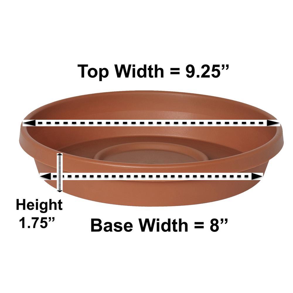 Terra Plant Saucer Tray 9 in Terra Cotta