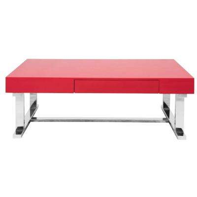 Modern Red Coffee Table Accent Tables Living Room