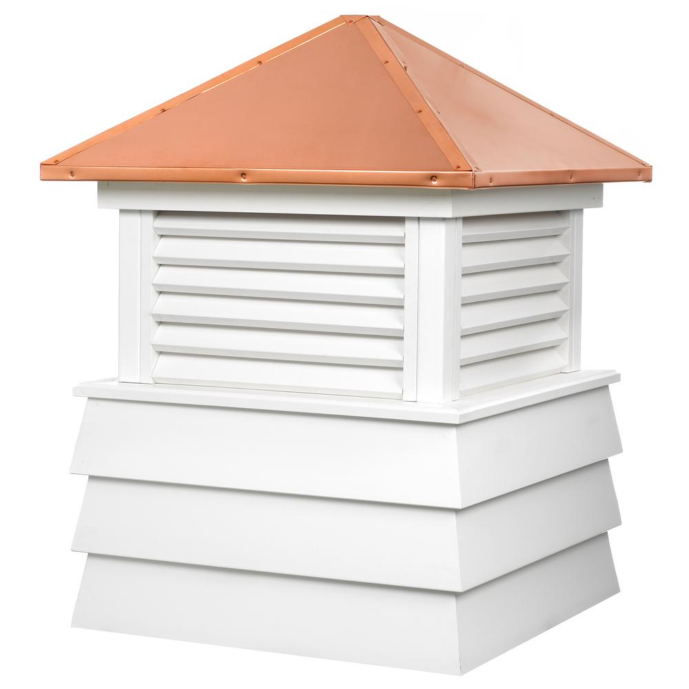 Dover 22 in. x 28 in. Vinyl Cupola with Copper Roof
