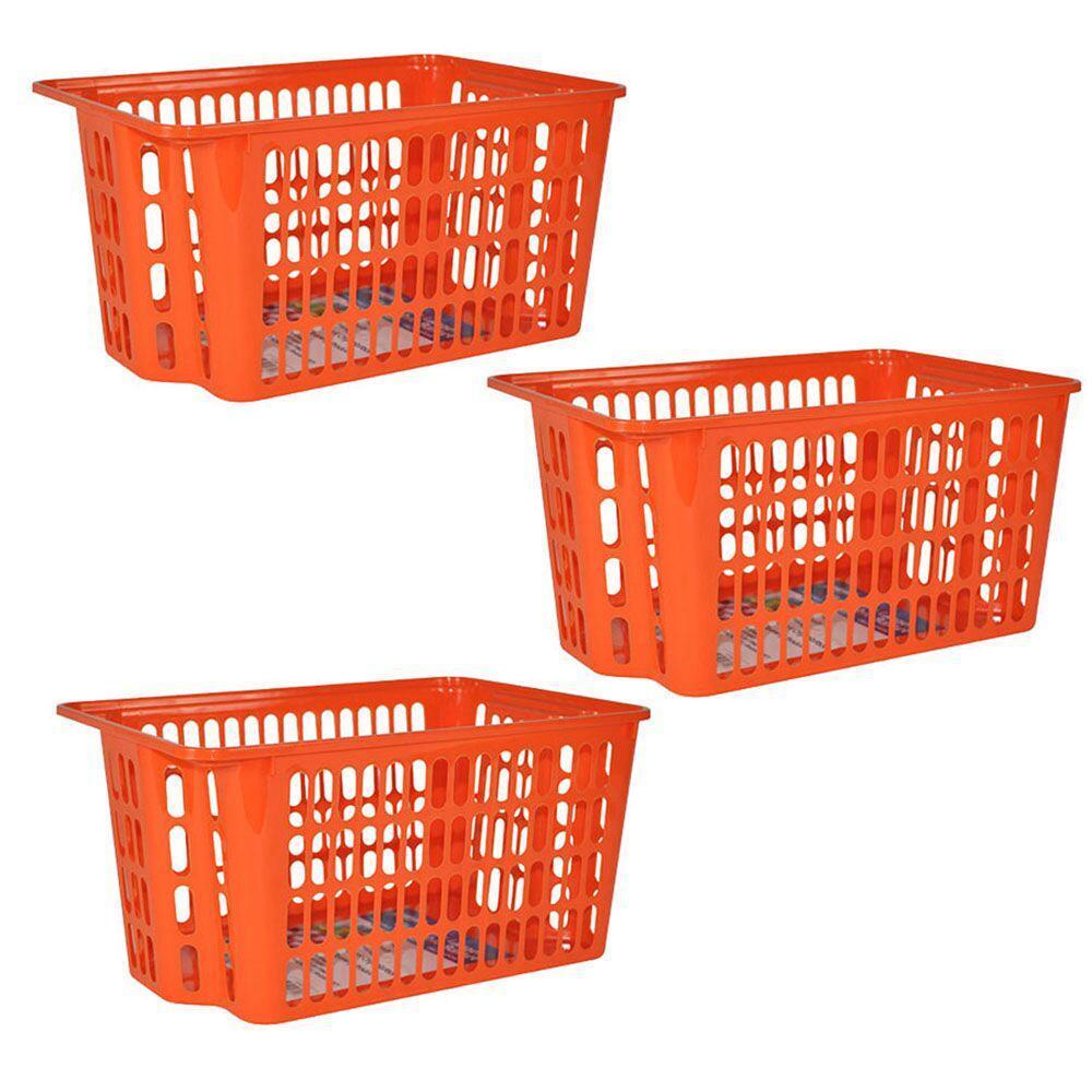 X-Large Stackable Basket in Orange (3-Pack)