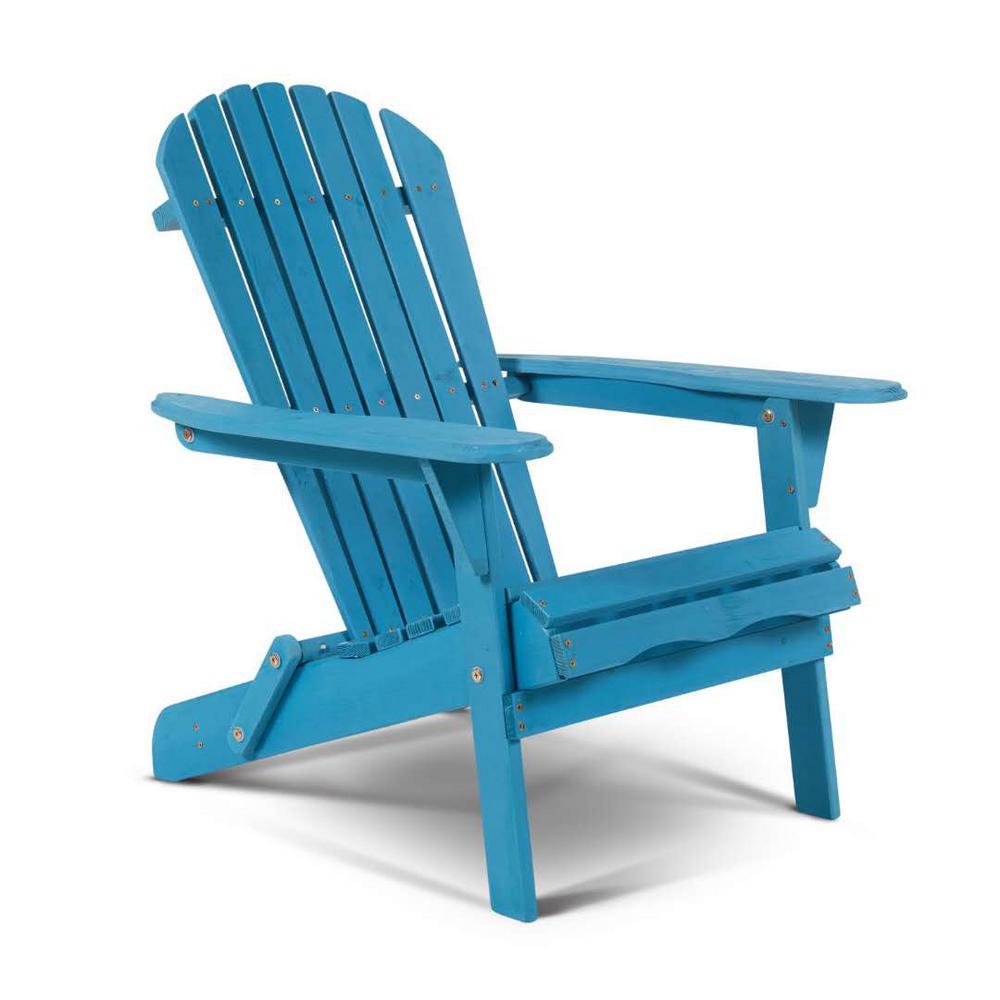 Classic Sky Blue Folding Wood Adirondack Chair