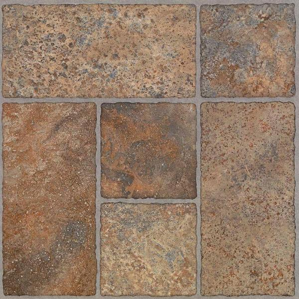 Bodden Bay 12 in. x 12 in. Terra Cotta Peel and Stick Vinyl Tile (30 sq. ft. / case)