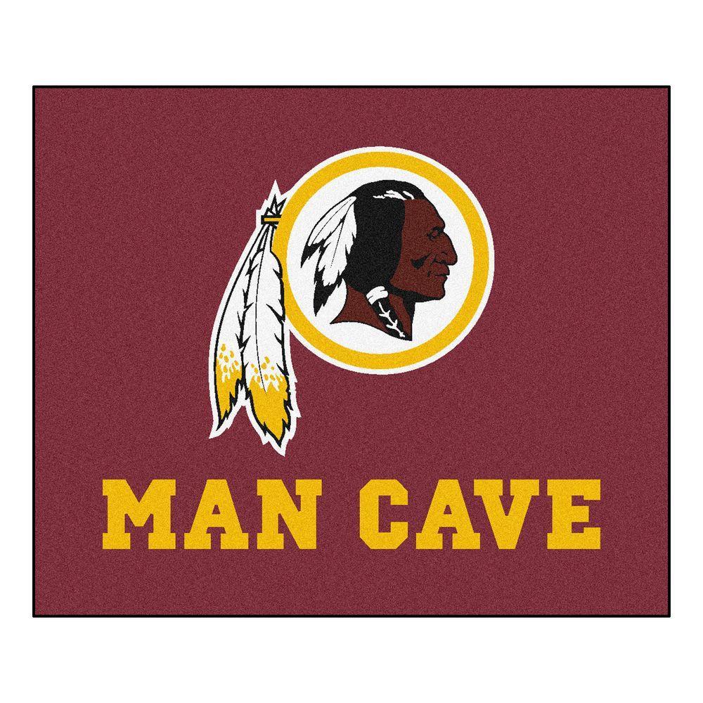 Washington Redskins Red Man Cave 5 ft. x 6 ft. Area Rug