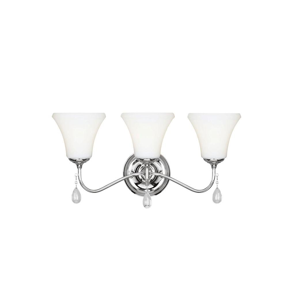 Sea Gull Lighting West Town 3-Light Chrome Wall Sconce was $133.2 now $17.14 (87.0% off)