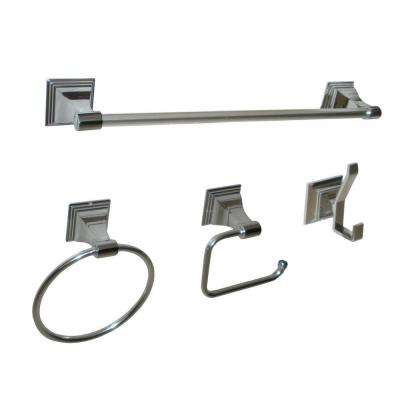 Leonard Collection 4-Piece Bathroom Hardware Kit in Chrome