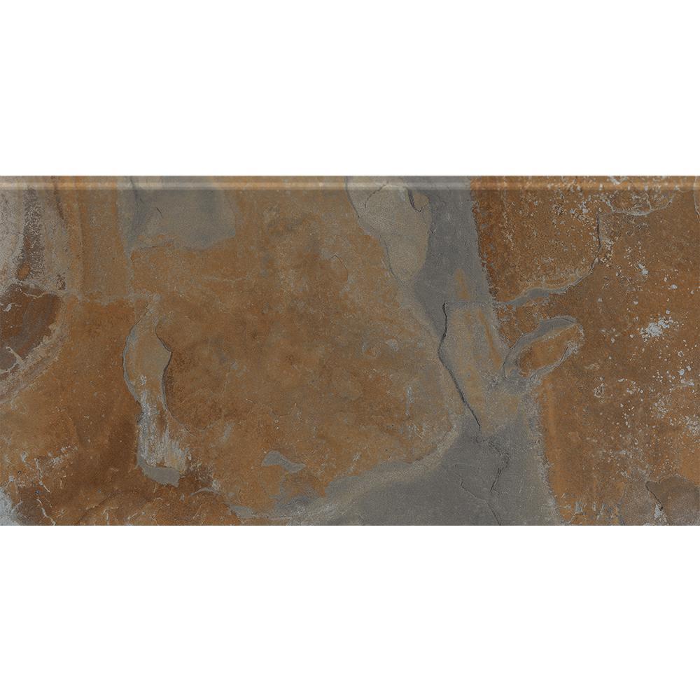 Solstace Telesto S4489 4-1/4 in. x 8-1/2 in. Ceramic Bullnose Wall Tile (20-each / Carton)