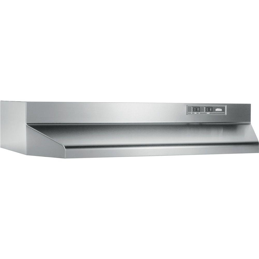 broan 40000 series 24 in range hood in stainless steel. Black Bedroom Furniture Sets. Home Design Ideas