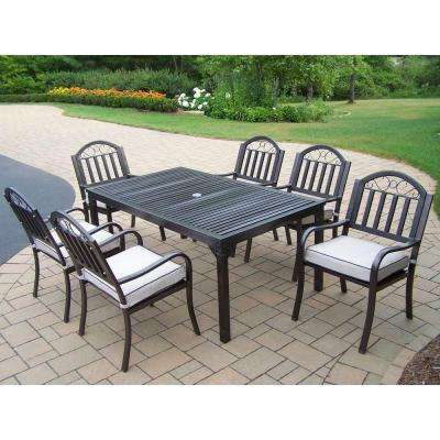 Rochester 7 Piece Patio Dining Set With Cushions