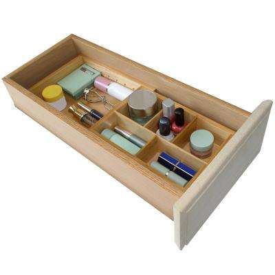 Natural Wood Expandable Small Drawer Organizer